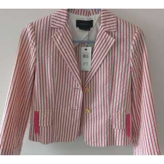BCBGMAXAZRIA Striped Button Jacket (Brand New)