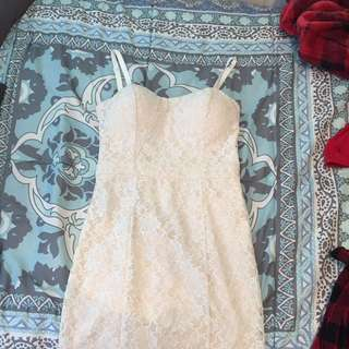 Body Con Lace Bebe Dress Size 4