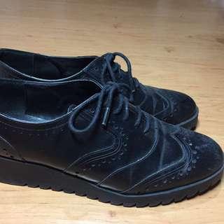 Zara Black Leather Loafers
