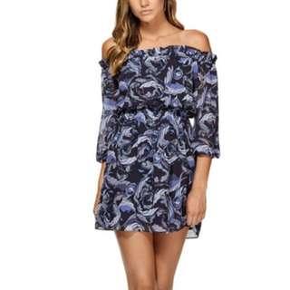 Kookai Jardin Off The Shoulder Dress Size 34