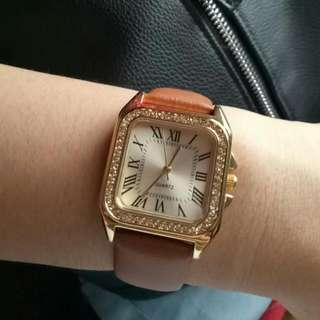 Vintage brown and gold watch