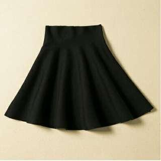 Korean Style Black Highwaisted Skirt