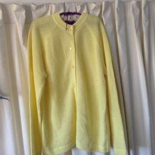Vintage Oversized Yellow Cardigan