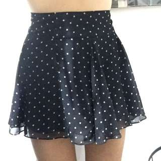 Polka Dot Skirt In Size M