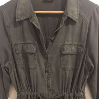 10 - Khaki Shirt Dress Jeanswest
