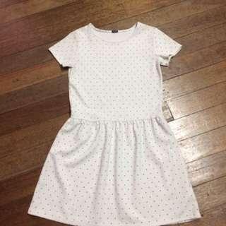 White Polka Dots Dress
