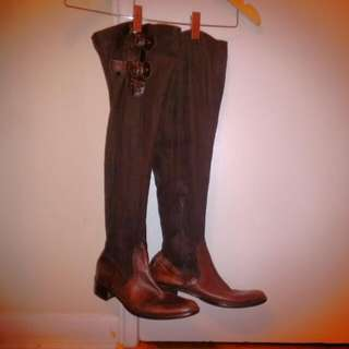 Vintage Leather Boots 8.5/39