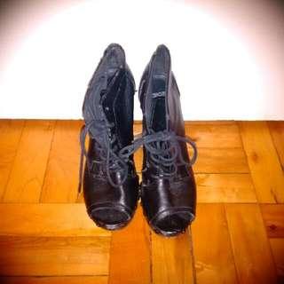 ASOS Peep Toe Booties Size 8.5/39