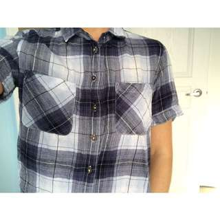 Cropped Plaid Shirt