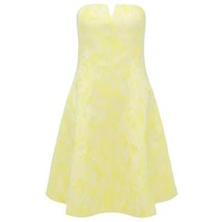 Forever New Yellow Corset Dress