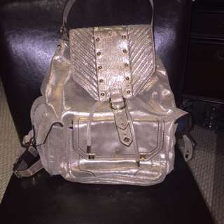 Gold Juicy Couture Backpack, In Great Condition, Originally $400