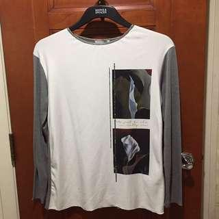 Zara Grey Long Sleeved Blouse