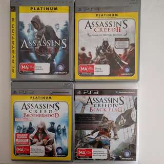 4 Assassin Creed Games