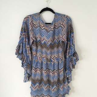 BLUE BELL SLEVE DRESS