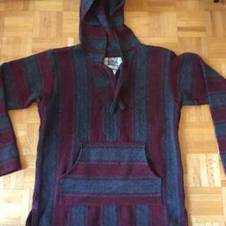 Gray/Maroon Pullover Sweater
