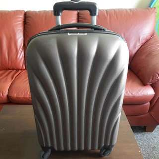 Matte Grey Hand Carry Lightweight Luggage