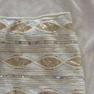 Gold Embellished Skirt