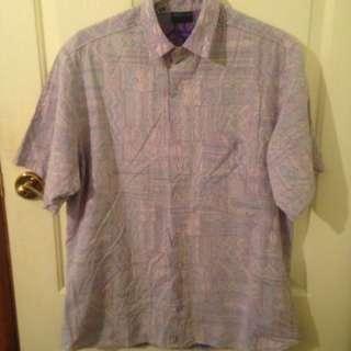 Retro Vintage Hawaiian Button Shirt