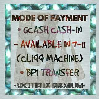 MODE OF PAYMENTS