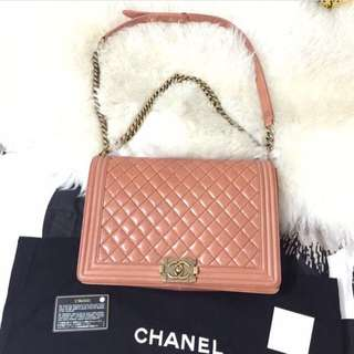 Chanel Boy Red Coral