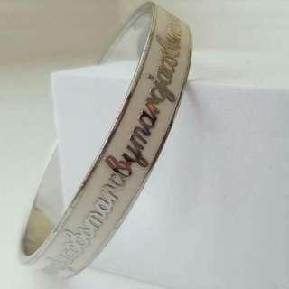 MARC BY MARC JACOBS White Enamel Logo Bracelet