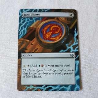 Izzet Signet MTG Magic Custom Hand Painted Altered Extended Art