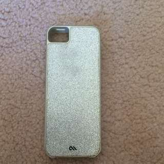 CASE-MATE Silver Glittery iPhone 5/5s/SE Case