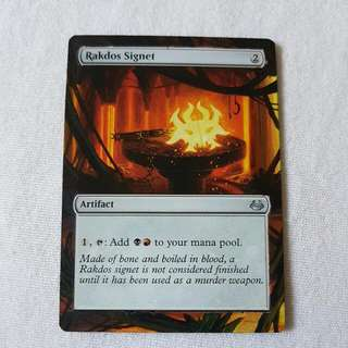 Rakdos Signet MTG Magic Custom Hand Painted Altered Extended Art