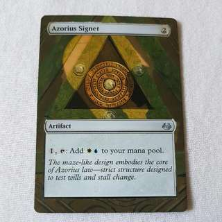 Azorius Signet MTG Magic Custom Hand Painted Altered Extended Art