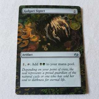 Golgari Signet MTG Magic Custom Hand Painted Altered Extended Art