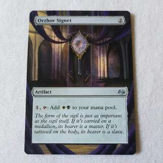 Orshov Signet MTG Magic Custom Hand Painted Altered Extended Art