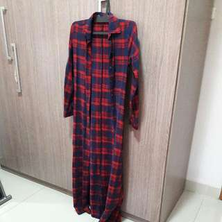 Long Shirt Navy Red All Size Fit To L