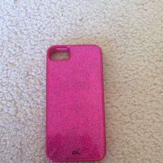 CASE-MATE Pink Glittery iPhone 5/5s/SE Case