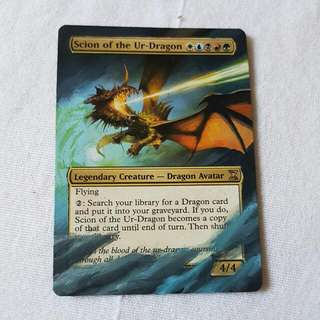 Scion Of The Ur-Dragon MTG Magic Custom Hand Painted Altered Extended Art