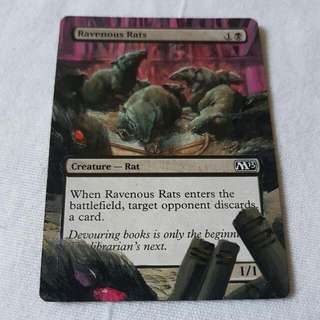 Ravenous Rats MTG Magic Custom Hand Painted Altered Extended Art
