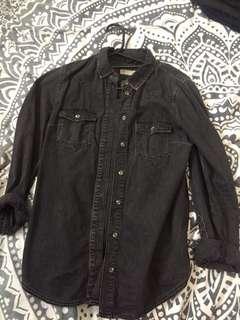 Topshop Dark Grey Shirt