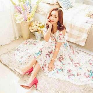 Ara Chiffon floral maxi dress