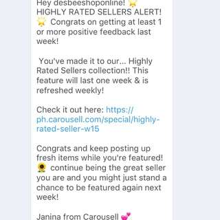 📌💋Thank you Carousell !!!📌😘