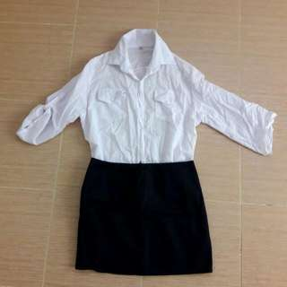 REPRICED: Skirt And Blouse Set