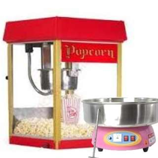 FOR RENT : Portable Popcorn Machine & Portable Cotton Candy Machine free-flow - 3 hours