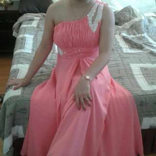 Long Gown For Wedding Or For Flores De Mayo W/ Pair Of Shoes..