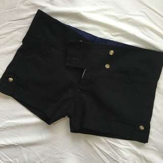 Black Short Shorts - Small