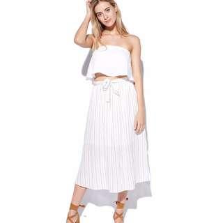 White High Waist Skirt from Universal