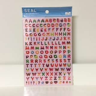 DAISO Cute Alphabet Food Letter Stickers (RRP: $2.80)
