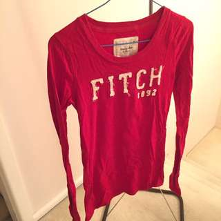 New Abercrombie And Fitch Red Tshirt