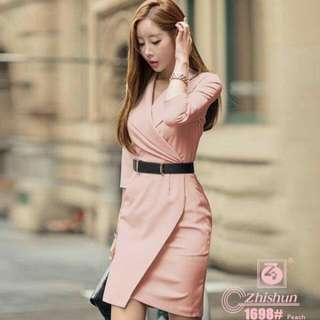 Elegant Formal Dress With Free Belt