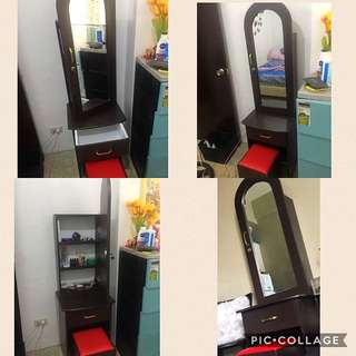 Dresser (Vanity Mirror+Cushioned Chair)