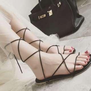 (含運)交叉綁帶羅馬鞋