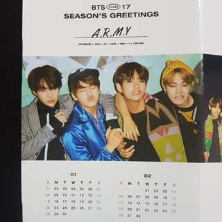 BTS 2017 SEASON'S GREETING CALENDAR
