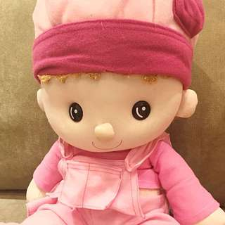 Pretty Pink Plush Doll